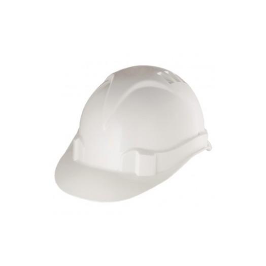 Каска защитная из ударопрочной пластмассы, белая